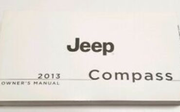 2013 JEEP COMPASS OWNERS MANUAL LIMITED LATITUDE V4 2 4L 2