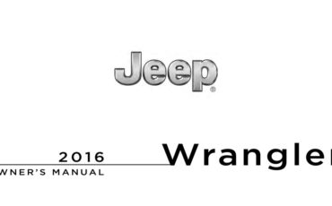 2016 Jeep Wrangler Owners Manual Ownersman